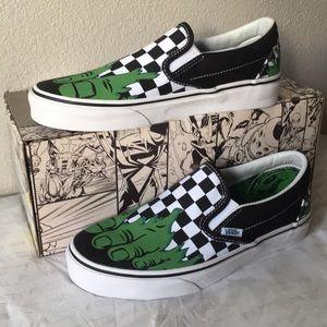 Vans Classic Slip-On X Marvel) Hulk/Checkerboard9